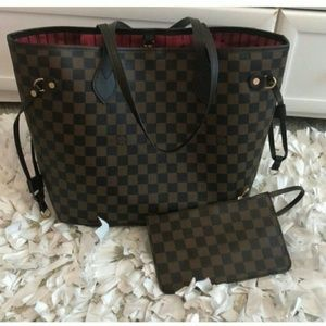 Neverfull bag with purse full package size MM Lhsi